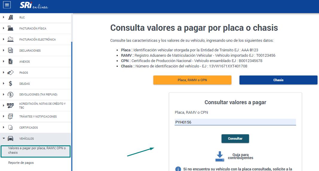 Consulta de dueño de un vehiculo por placa en Ecuador
