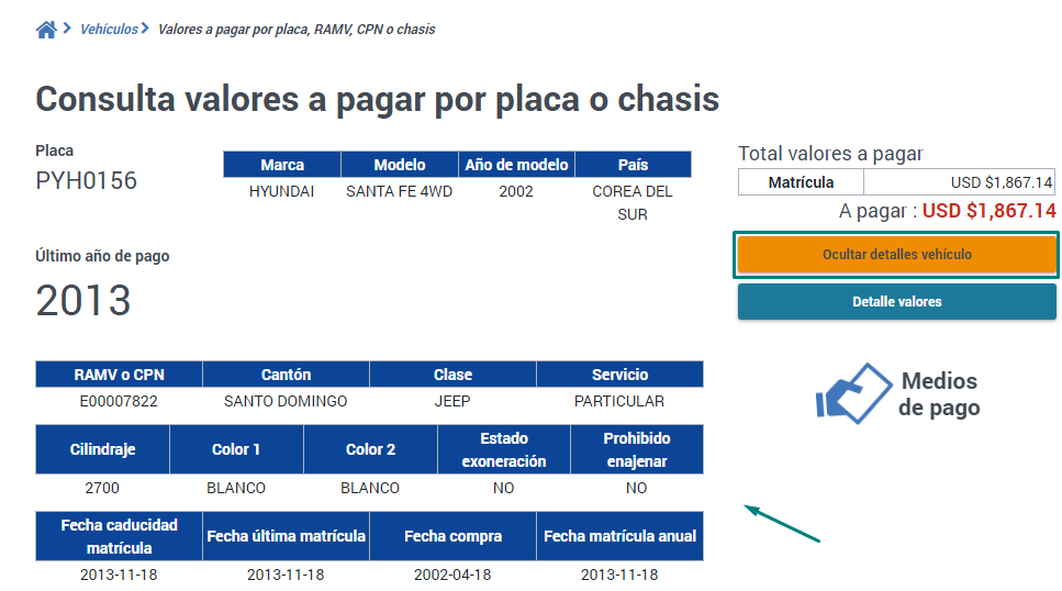 Conocer detalles del propietario de un vehiculo por numero de placa en Ecuador.